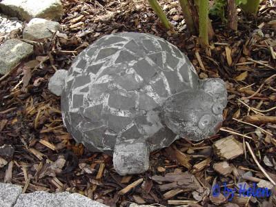 59Черепаха из проволоки для сада