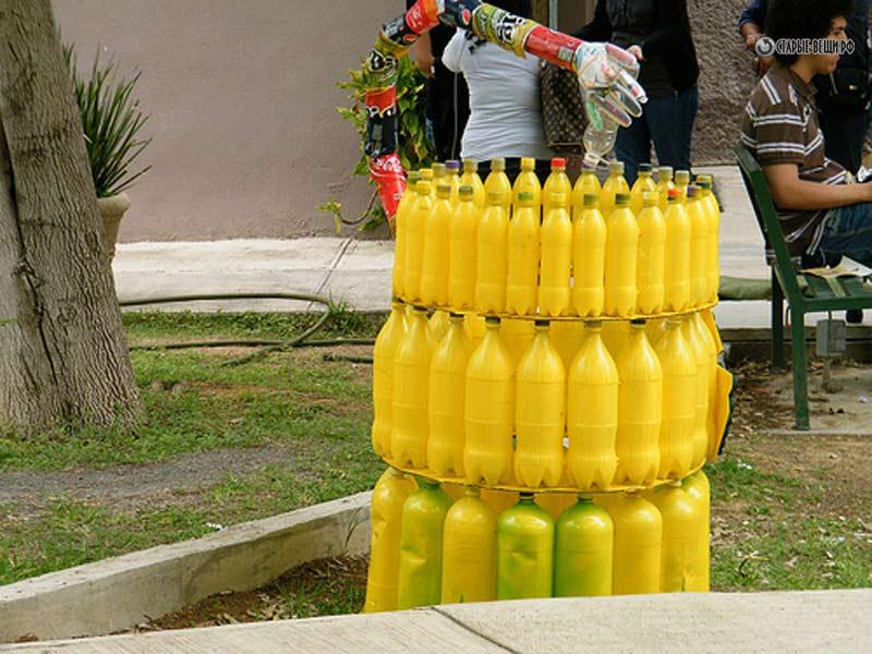 Поделки из мусора бутылок